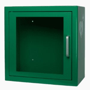AED binnenkast Groen met alarm en logo - Janhofman.nl - 1