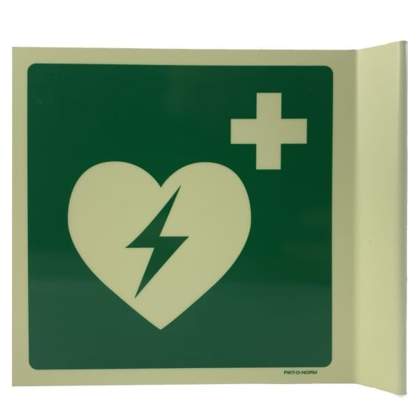AED bord haaks glow 15x15 - Janhofman.nl - 1