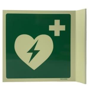 AED bord haaks glow 20x20 - Janhofman.nl - 1