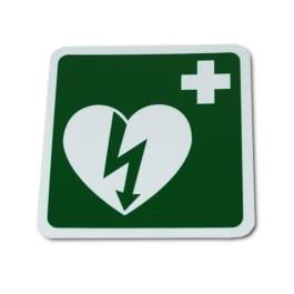 AED bordje 15x15 - Janhofman.nl - 1