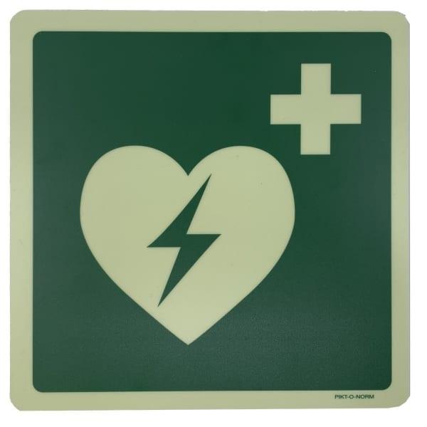 AED sticker glow 20x20 - Janhofman.nl - 1