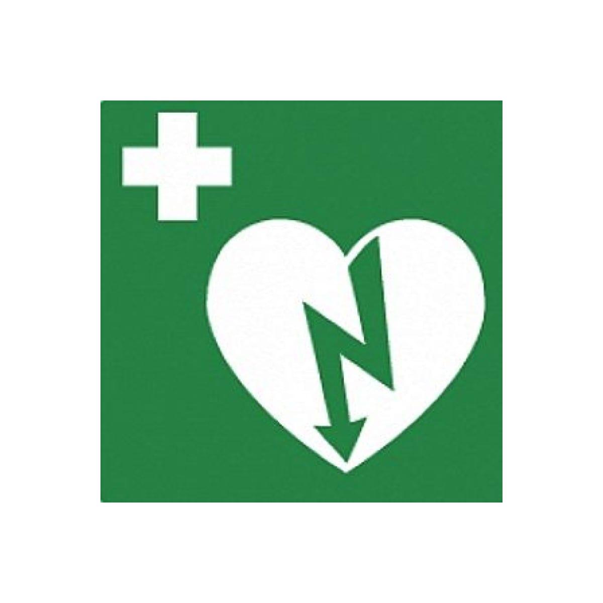 AED sticker reverse 15x15 - Janhofman.nl - 1