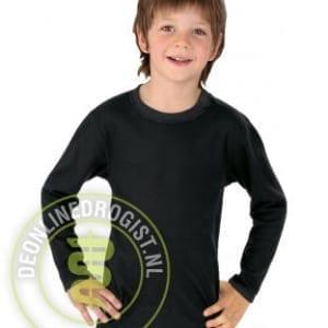 Best4body Verbandshirt Kind Lange Mouwen Zwart Maat 128 - Janhofman.nl - 1