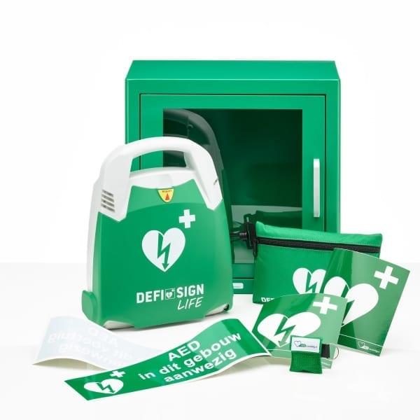 DefiSign Life AED + binnenkast-Groen-Halfautomaat-NL/ENG/FR - Janhofman.nl - 1
