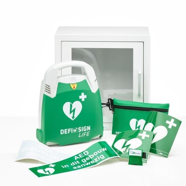 DefiSign Life AED + binnenkast-Wit-Halfautomaat-NL/ENG/FR - Janhofman.nl - 1