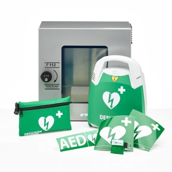 DefiSign Life AED + buitenkast-Grijs met pin-Volautomaat-NL/ENG/DE - Janhofman.nl - 1
