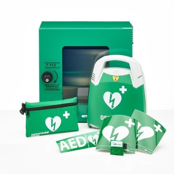 DefiSign Life AED + buitenkast-Groen met pin-Halfautomaat-NL/ENG/DE - Janhofman.nl - 1