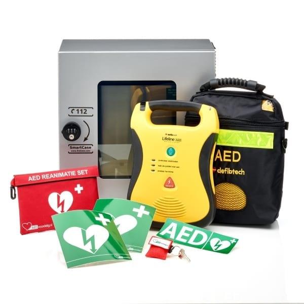 Defibtech Lifeline AED + buitenkast-Grijs met pin-Volautomaat - Janhofman.nl - 1