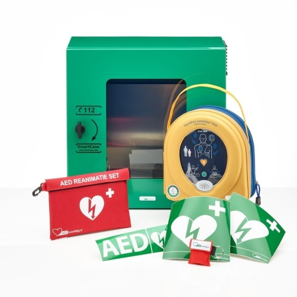 HeartSine 350P AED + buitenkast-Groen - Janhofman.nl - 1
