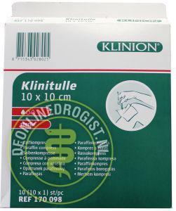Klinion Klinutelle Zalfkompres 10x10cm - Janhofman.nl - 1