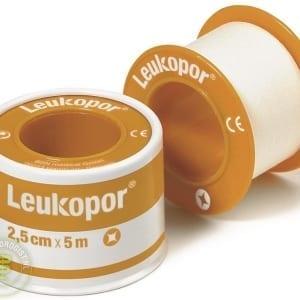Leukopor 2.5cm x 5m - Janhofman.nl - 1