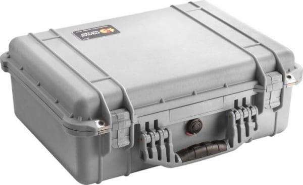 Peli 1450 AED koffer zwart met Plukfoam-Zilvergrijs - Janhofman.nl - 1