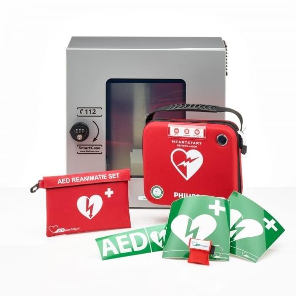 Philips AED + buitenkast-Grijs met pin - Janhofman.nl - 1