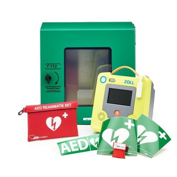 ZOLL AED 3 + buitenkast-Groen-Halfautomaat - Janhofman.nl - 1