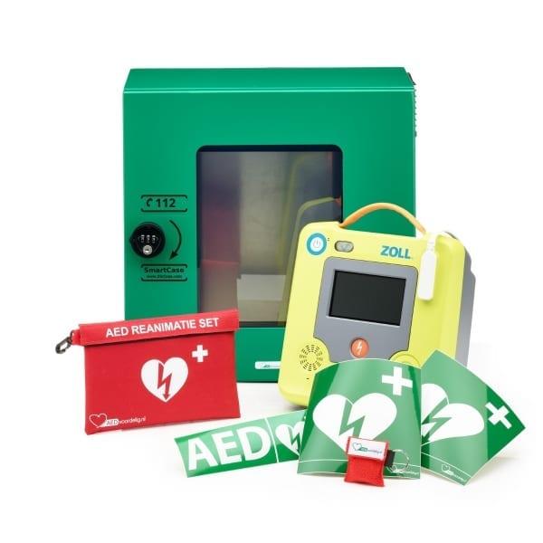 ZOLL AED 3 + buitenkast-Groen met pin-Halfautomaat - Janhofman.nl - 1