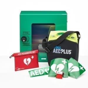 ZOLL AED Plus + buitenkast-Groen met pin-Halfautomaat - Janhofman.nl - 1