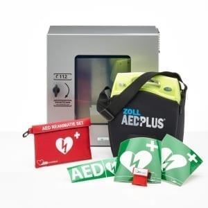 ZOLL AED Plus lease -Halfautomaat-Met buitenkast (+ 12