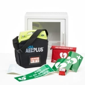 ZOLL AED Plus lease -Volautomaat-Met binnenkast (+ 2